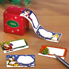 100 Étiquettes de Noël