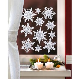 11décorations de fenêtre Cristaux de glace