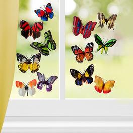 12 papillons en 3D