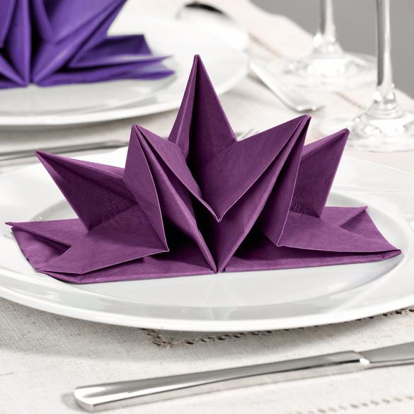 12 serviettes, violet