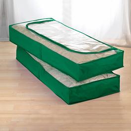 2 housses dessous de lit, vert
