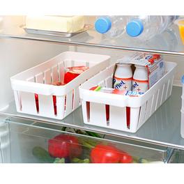 2 paniers réfrigérateur, blanc