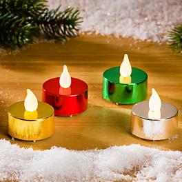 4 bougies chauffe-plat métalliques