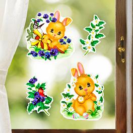 4 images pour fenêtres Lapins de Pâques