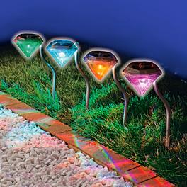 4 piquets lumineux à LED « Diamant »