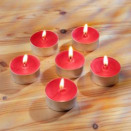 6 bougies chauffe-plats, parfum baies