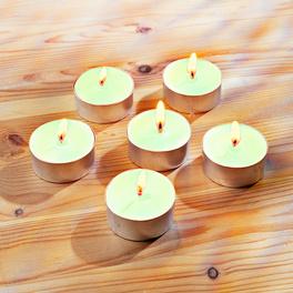 6 bougies chauffe-plats parfum pomme