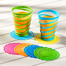 6dessous de verre, multicolore