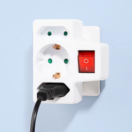 Adaptateur pour 3prises électriques