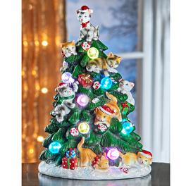 Arbre à LED Chatons de Noël