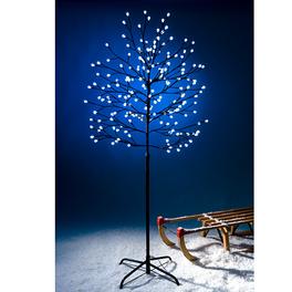 Arbre avec boules LED, 150 cm