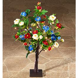 Arbre fleuri à LED, multicolore