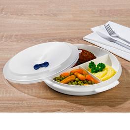 Assiette compartimentée spéciale micro-ondes
