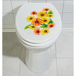 Autocollant pour WC Fleurs
