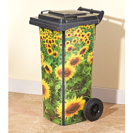 Autocollants Tournesols pour poubelle