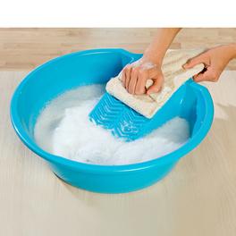 Bac et planche à laver, bleu