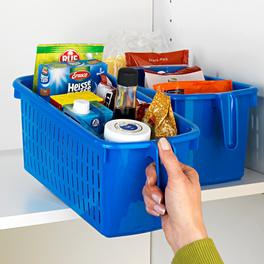 Boîte avec poignée, bleu