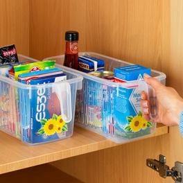 Boîte de rangement avec poignée et décoration