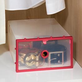 Boîte de rangement, rouge
