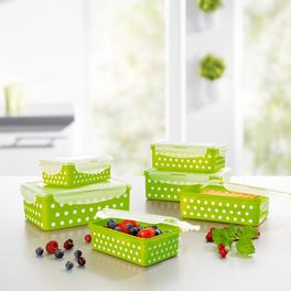 Boîte fraîcheur vert-blanc, 12 pièces