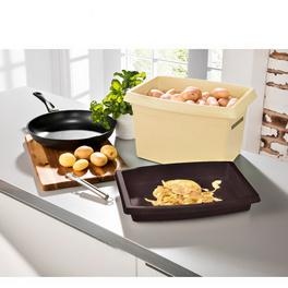 Boîte à pommes de terre, beige-marron