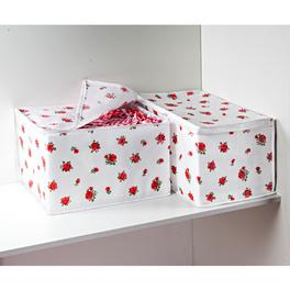 Boîtes de rangement, Roses rouges