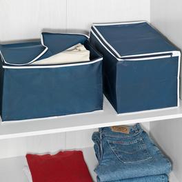 Boîtes de rangement, bleu lot de 2