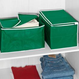 Boîtes de rangement, vert lot de 2