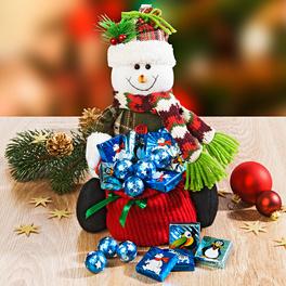 Bonhomme de neige avec sac garni