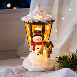 Bonhomme de neige, lanterne LED