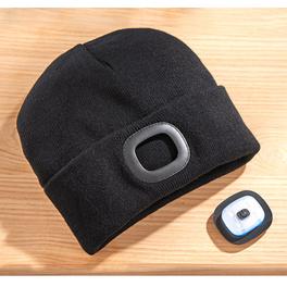 Bonnet à LED, noir