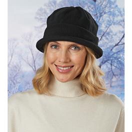 Bonnet en maille polaire, noir