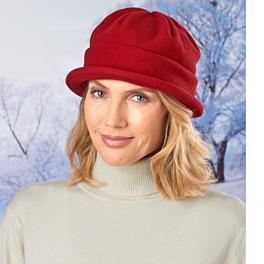 Bonnet en maille polaire, rouge
