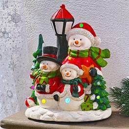 Bonshommes de neige avec musique et LED