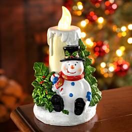 Bougie à LED Bonhomme de neige