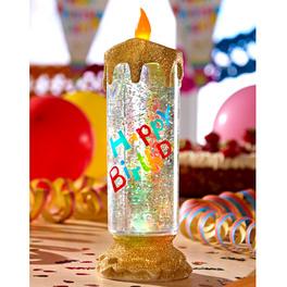 Bougie LED Happy Birthday