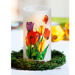 Bougie à LED Tulipes