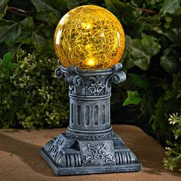 Boule solaire sur colonne