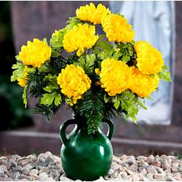 Bouquet chrysanthèmes/sapin