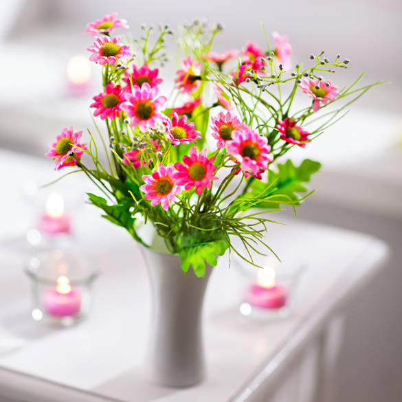 Bouquet de fleurs des champs, rose, Référence: 3158900