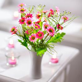 Bouquet de fleurs des champs, rose