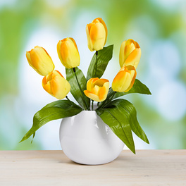 Bouquet de tulipes, jaune