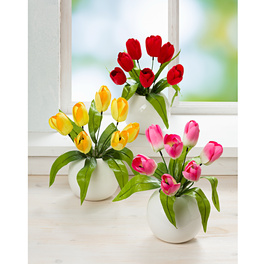 Bouquet de tulipes, rouge