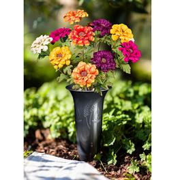 Bouquet de zinnias multicolore