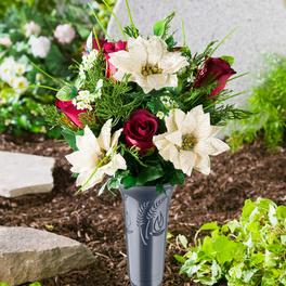 Bouquet poinsettias/roses