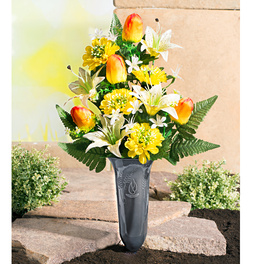 Bouquet tombal Tulipes Lys