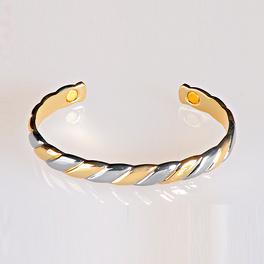 Bracelet aimanté, coloris or-argent