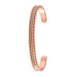 Bracelet aimanté cuivre cordelette