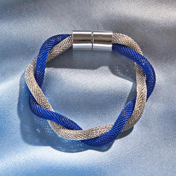 Bracelet, bleu/argent