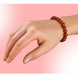 Bracelet en agate, rouge